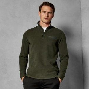 Ted Baker Mens khaki half zip sweater BNWT